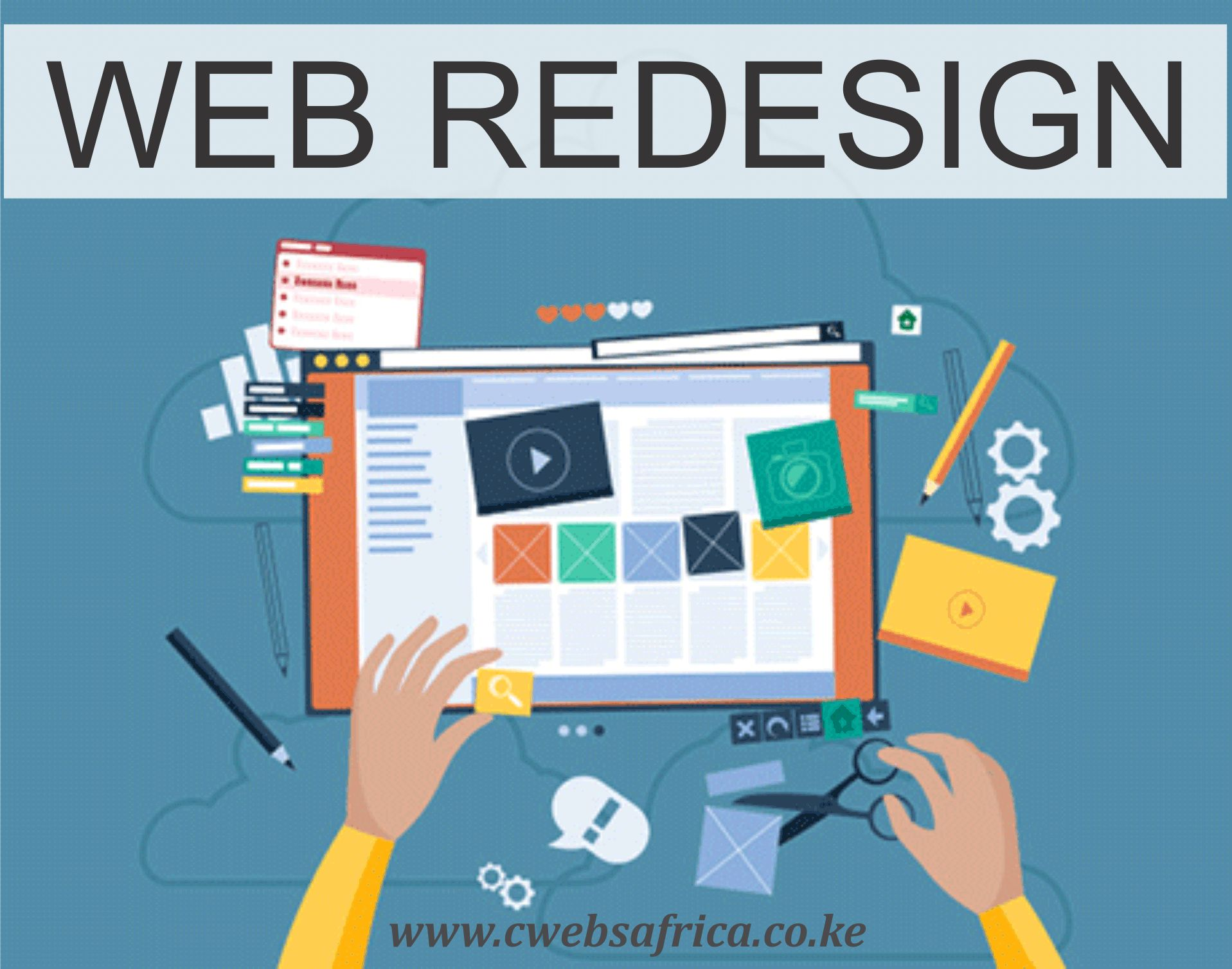 We offer continuous redesign services, enabling iterative evolution of your website